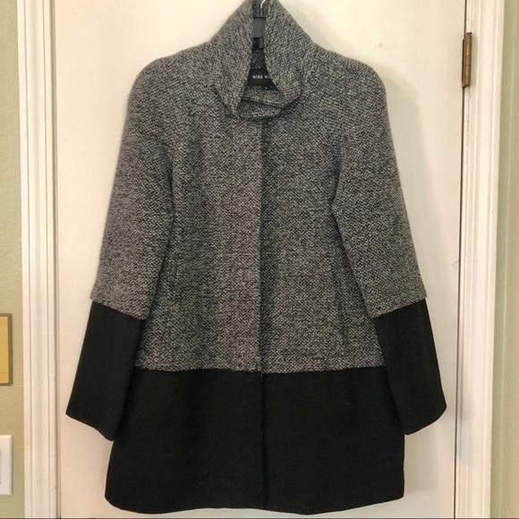 Beautiful Black & Gray Nine West Coat